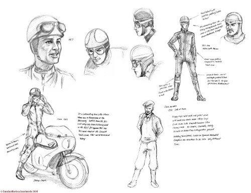Postwar Motorcycle gear