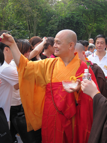 Alms Offering to the Sangha at Temple