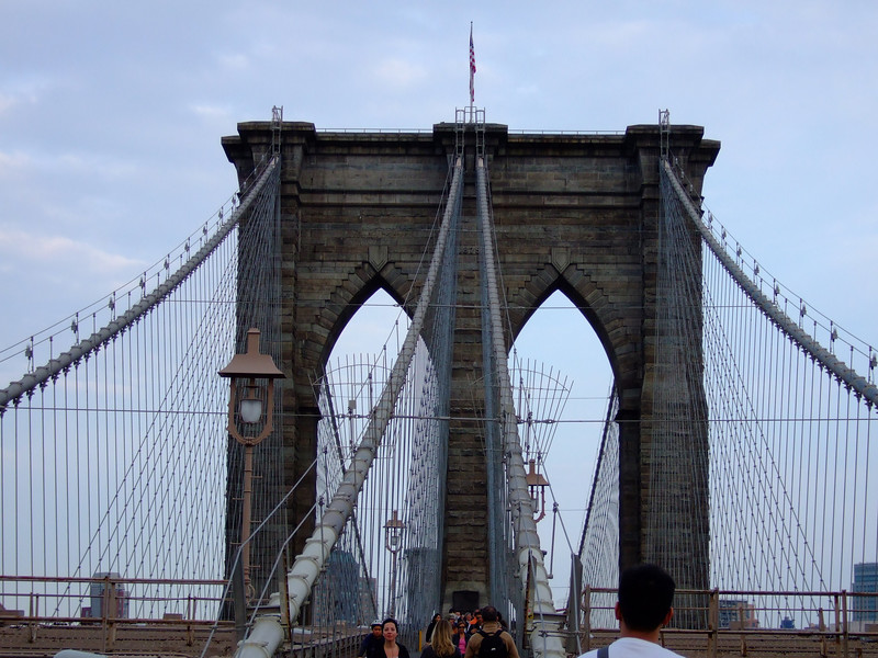 Walking the Brooklyn Bridge in New York City