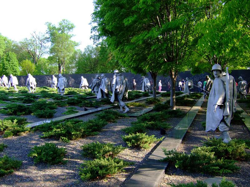 Korean War Veterans Memorial. Washington DC