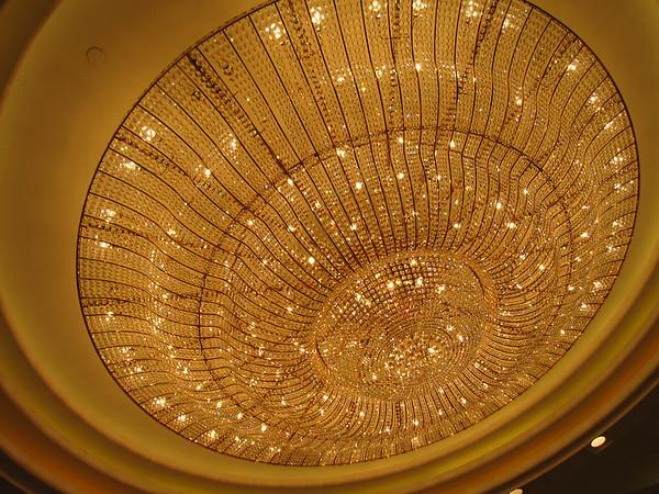 The beautiful crystal inside Maxim's Palace City Hall 美心皇宮