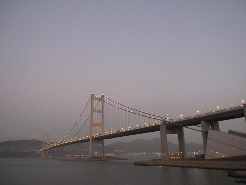 Tsing Ma Bridge in Dusk