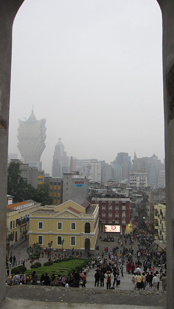 View of Macau FROM the Ruins of St. Paul's
