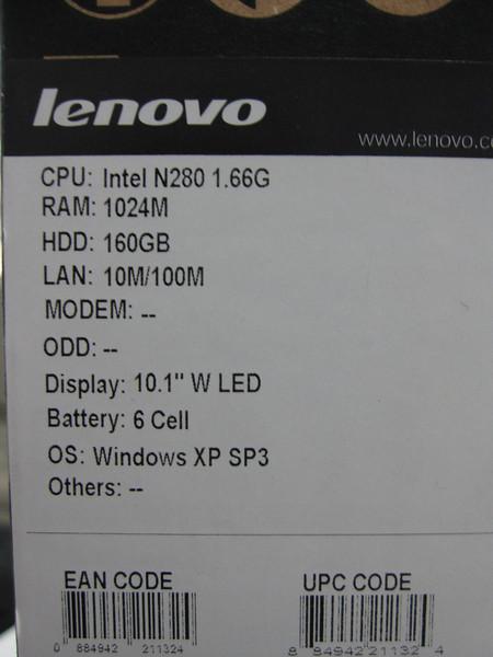 Lenovo S10-2 Specs