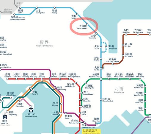 MTR map to Hong Kong Wishing Tree