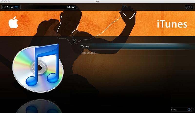 iTunes in Plex