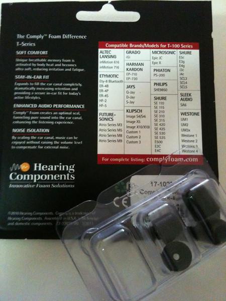 Comply Foam Tips for Earphones