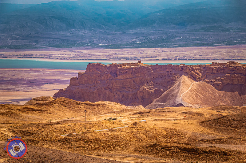 The Hilltop Ruins of Masada Against the Backdrop of the Dead Sea and the Hills of Jordan (©simon@myeclecticimages.com)
