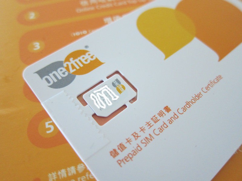 Hong Kong Mobile Broadband Prepaid Card