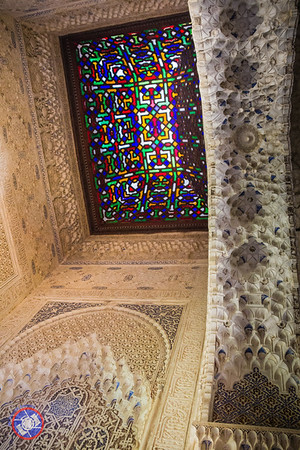 A Decorative Stained Glass Ceiling and Elaborately Carved Walls within the Harem (©simon@myeclecticimages.com)