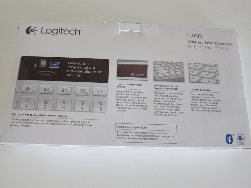 Logitech Wireless Solar Keyboard K760 for Mac/iPad/iPhone