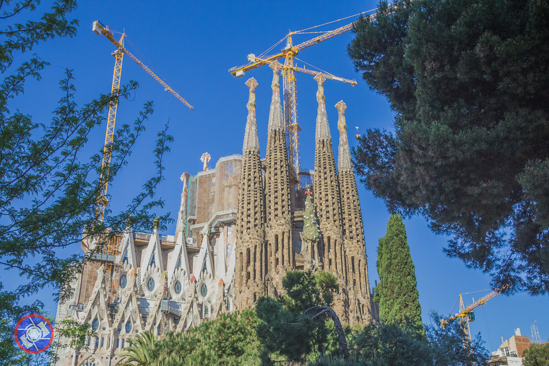 The Unfinished La Segrada Familial Created by Antoni Gaudi (©simon@myeclecticimages.com)