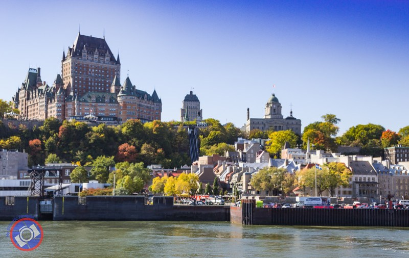 A View of Quebec City with the Chateau Frontenac Dominating the Skyline (©simon@myeclecticimages.com)