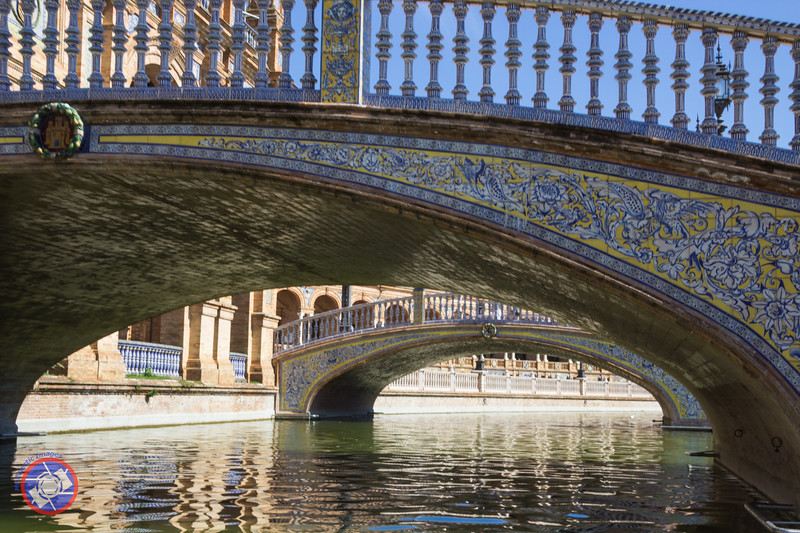 A Close-up of the Tile Work on a Bridge Traversing the Water Feature at the Plaza de España (©simon@myeclecticimages.com)