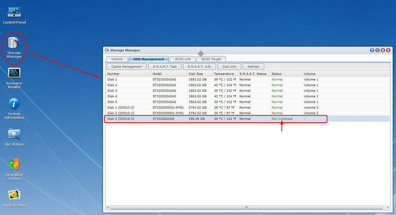Added New Disk into Synology