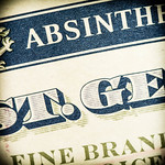 St. George Absinthe Vert label (detail), photo © 2015 Douglas M. Ford. All rights reserved.