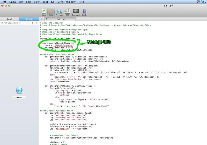 Using XBMC NFO with Plex