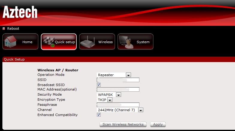 Aztech WL556E, Portable 300Mbps Wireless-N Extender