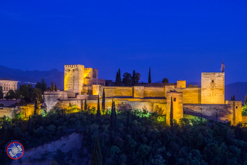 Night view of the Alhambra from Across the Valley (©simon@myeclecticimages.com)