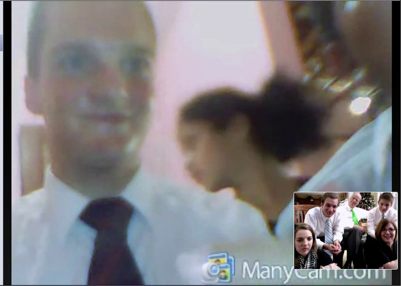 A snippet of Scott's Christmas Skype call - December 25, 2011.