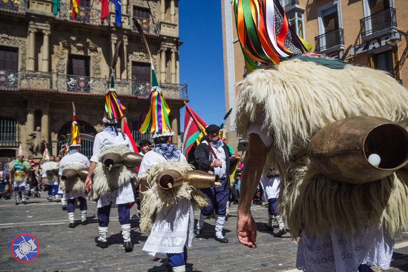 Festival Time in Pamplona Celebrating the Basque Language (©simon@myeclecticimages.com)