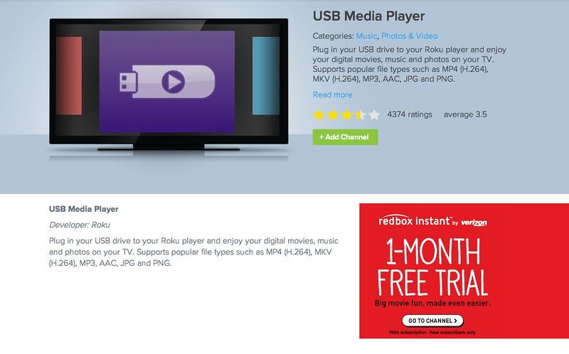 USB Media Player Roku