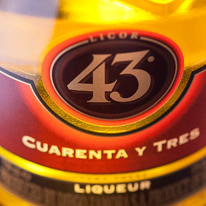Licor 43 (label detail), photo © 2014 Douglas M. Ford. All rights reserved.