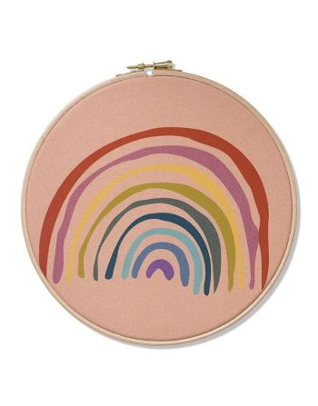 Wall hoop - Rainbow your day