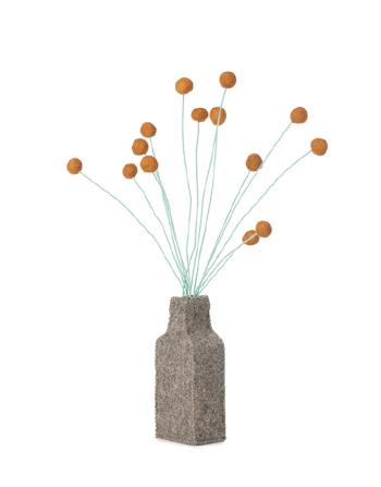 Kidsdepot - Vilten bloemenvaasje met drum sticks