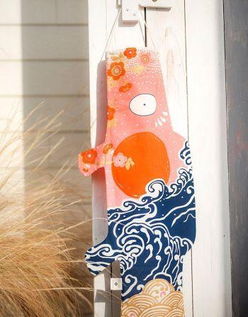 Speelse windzak Koinobori – Kokoro Nami