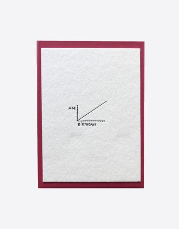 "Letterpress wenskaart ""Age --> birthdLetterpress wenskaart ""Age --> birthdays""ays"""