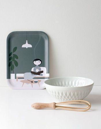 Yummy tray – Hot vanilla milk - Front