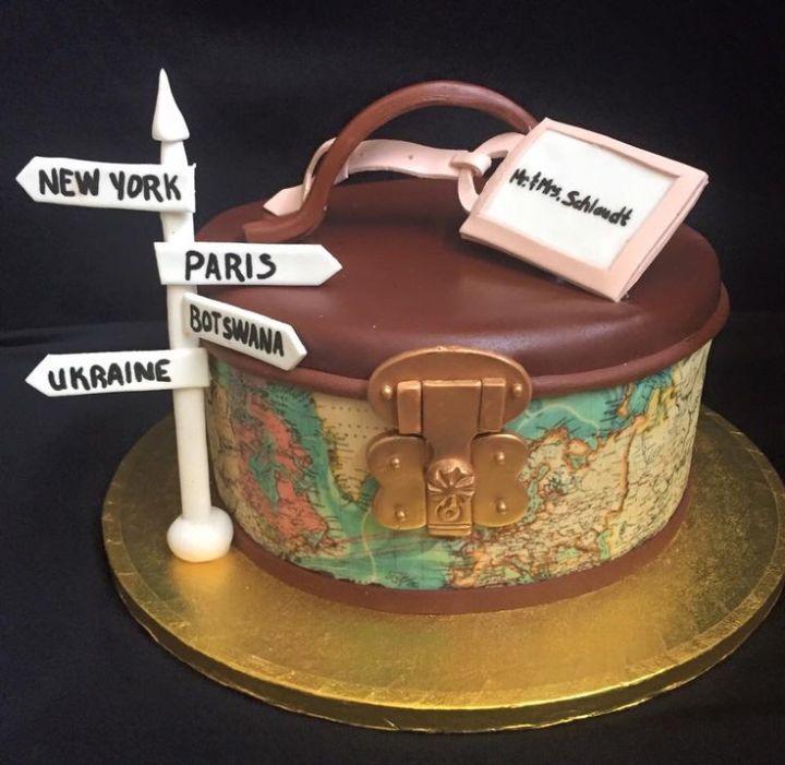 Astonishing Travel Cake Theme Tourism Company And Tourism Information Center Birthday Cards Printable Trancafe Filternl