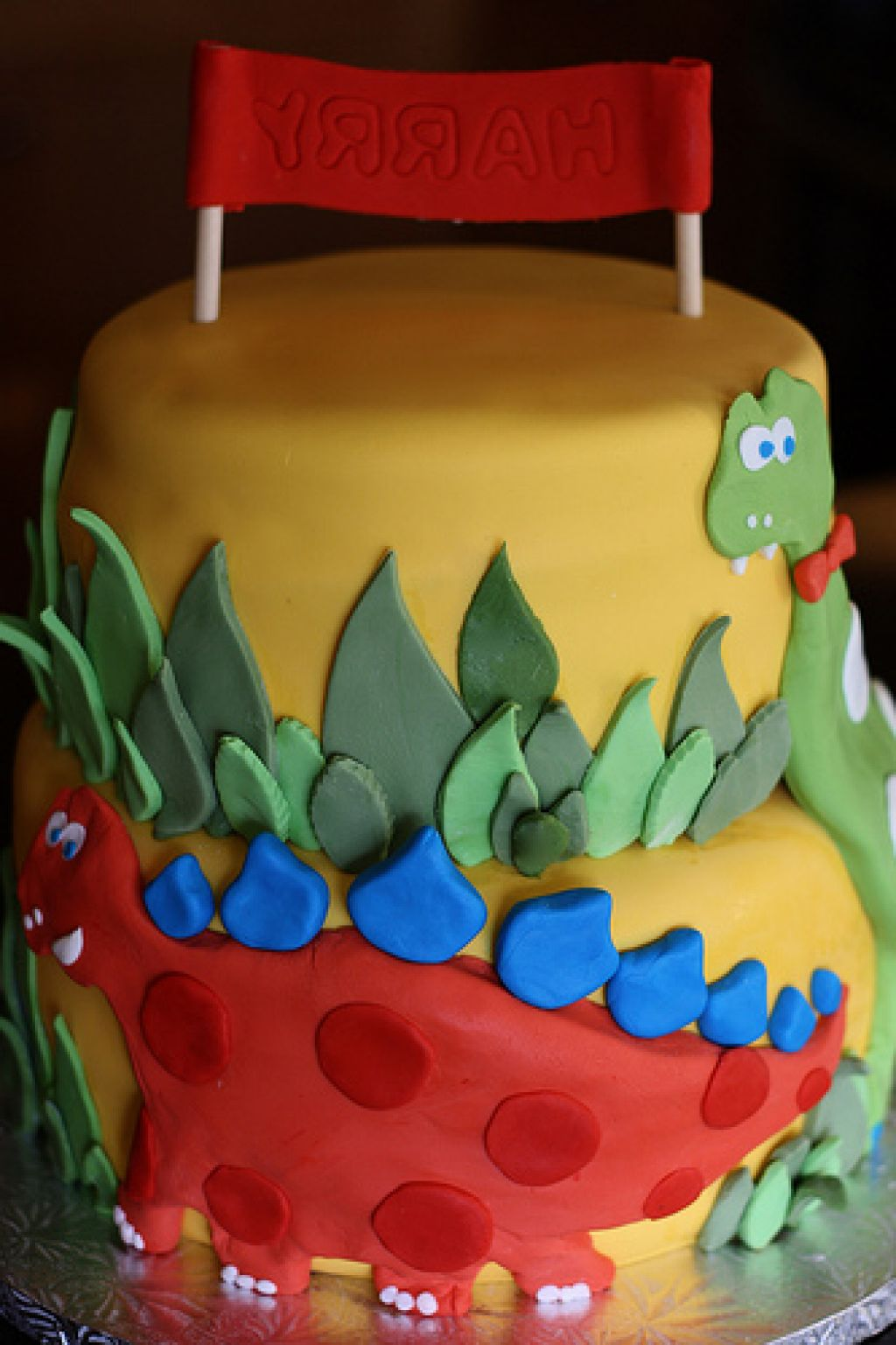 Pleasing Dinosaur Birthday Cake For 3 Year Old The Cake Boutique Funny Birthday Cards Online Sheoxdamsfinfo