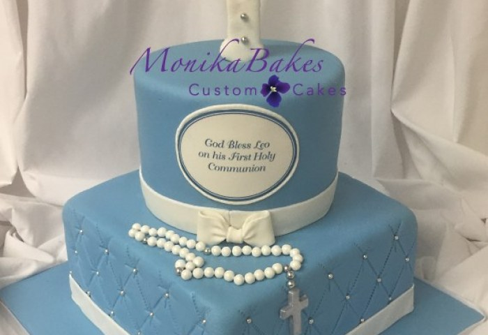 10 2 Tier First Communion Cakes For Boy Photo Boys Christening