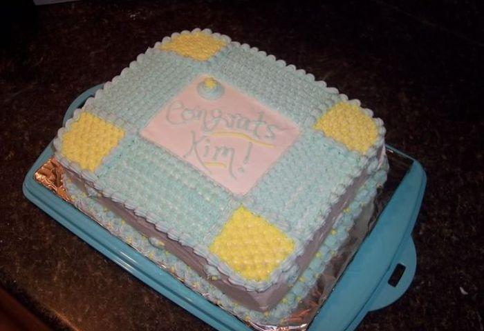 10 Simple Homemade Baby Shower Cakes Photo Homemade Baby Shower