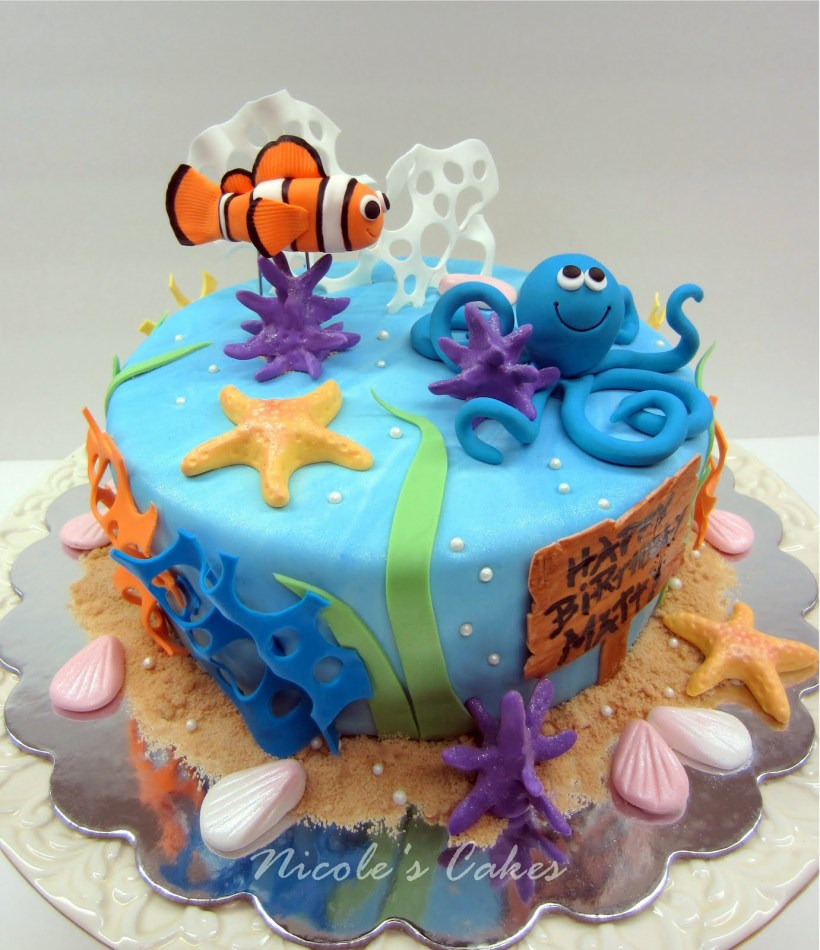 Aquarium Themed Birthday Cakes Allcanwear