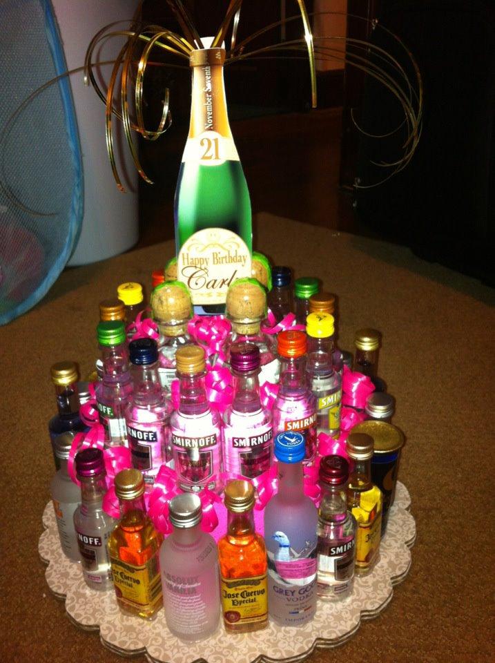 8 Cakes With Liquor Bottles In Them Photo Mini Liquor