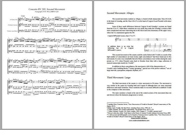 Vivaldi RV 205 2 Violin sonata
