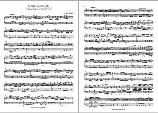 Albinoni Sonata per Pisendel in B flat major