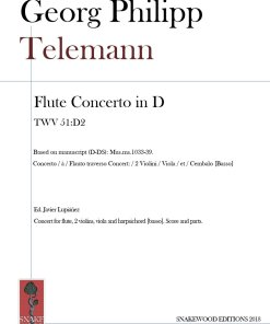 Telemann – Flute Concerto in D Major TWV 51:D2 (Score and parts in PDF)