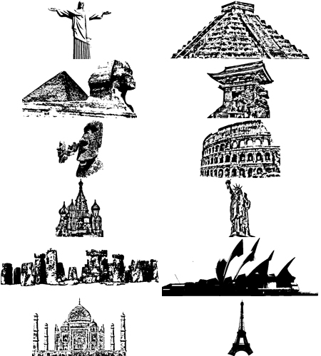 Clipart monoments new world wonders