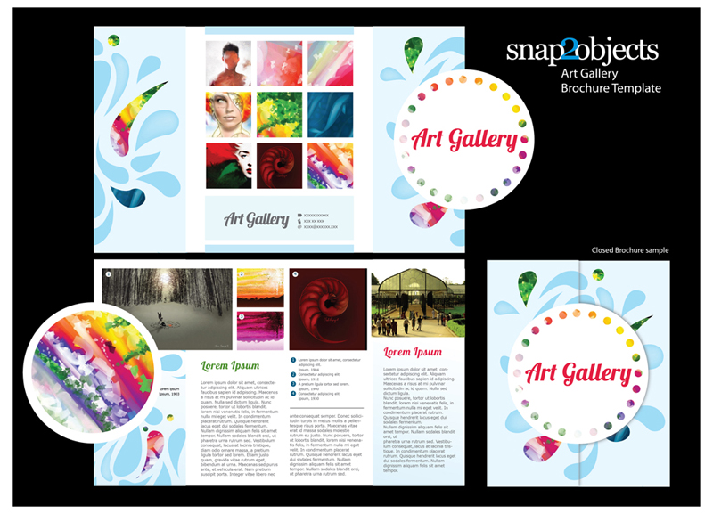free art gallery brochure vector template