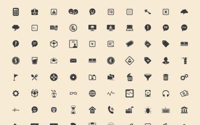 240 Basic Icons Vector Freebie