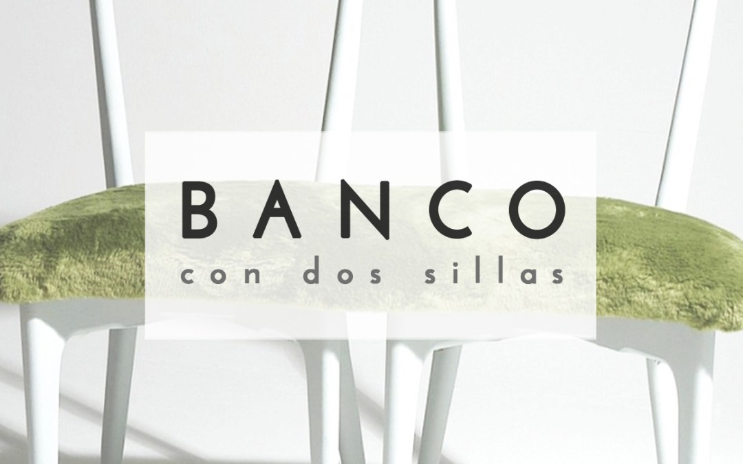 BANCO CON 2 SILLAS