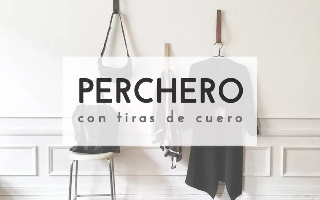 PERCHERO CON TIRAS DE CUERO