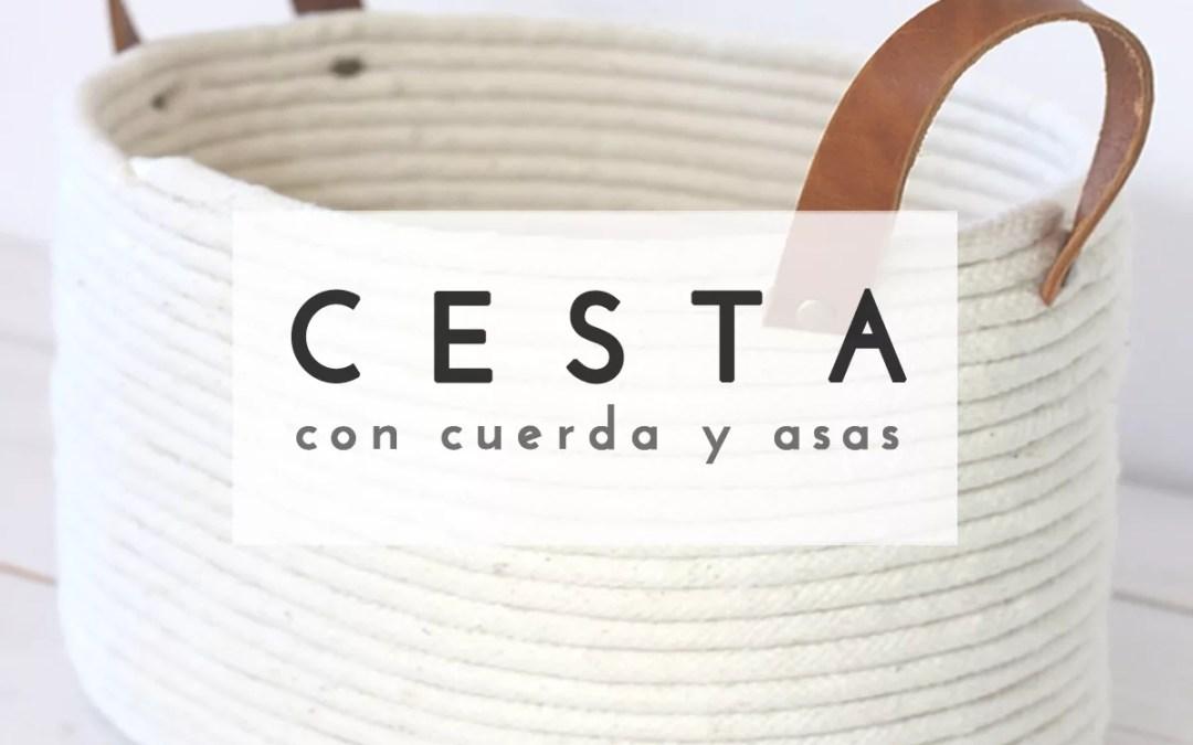 DIY CESTA CON CUERDA