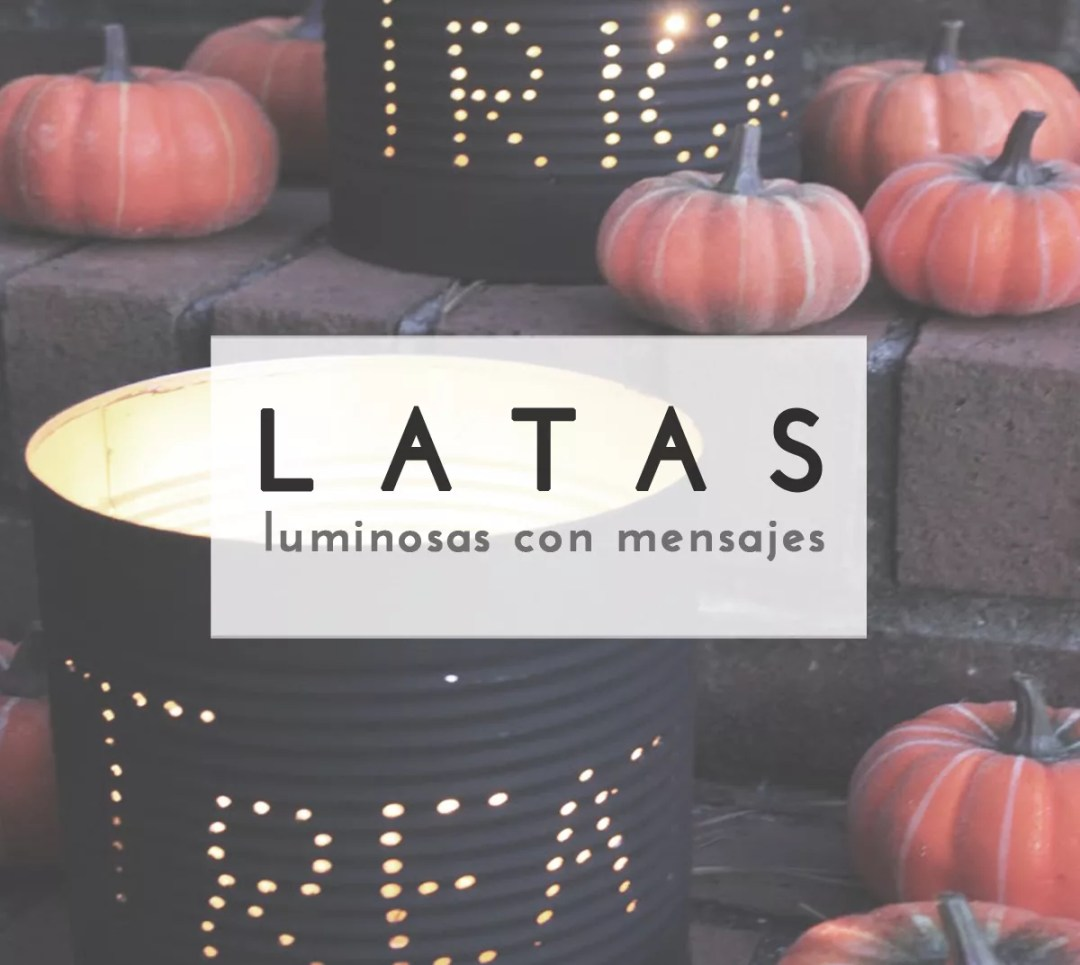 Latas luminosas DIY