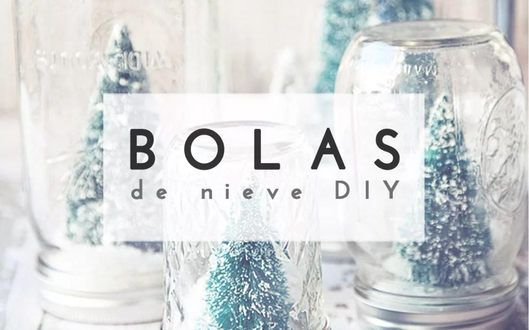 BOLA DE NIEVE DIY