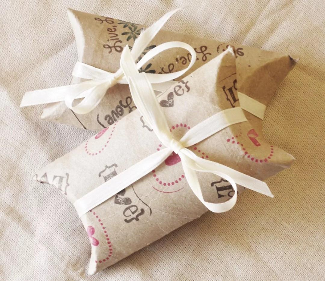 Cajitas regalo DIY con rollos de papel higiénico